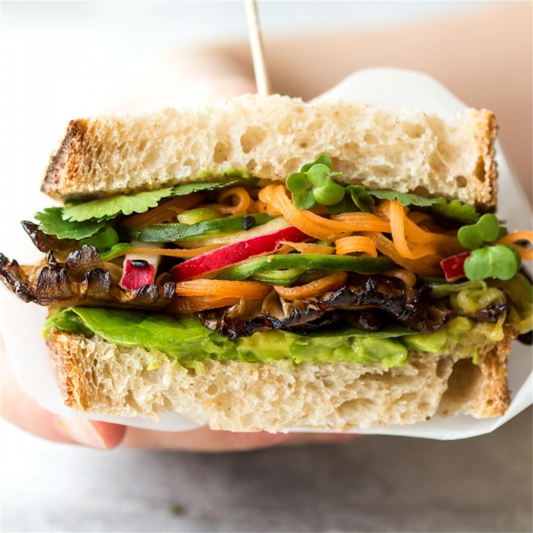 Asian mushroom sandwich
