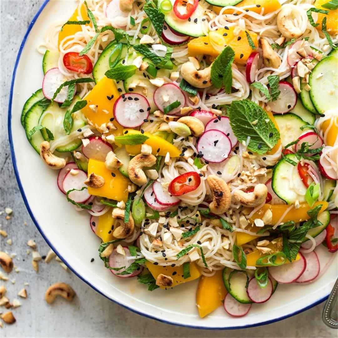 Mango zucchini salad