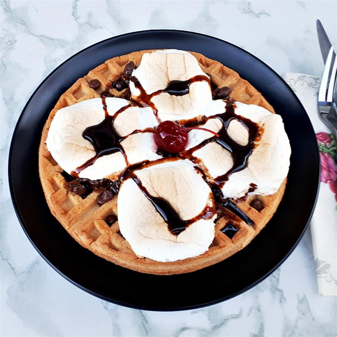Waffle S'mores For Dessert !