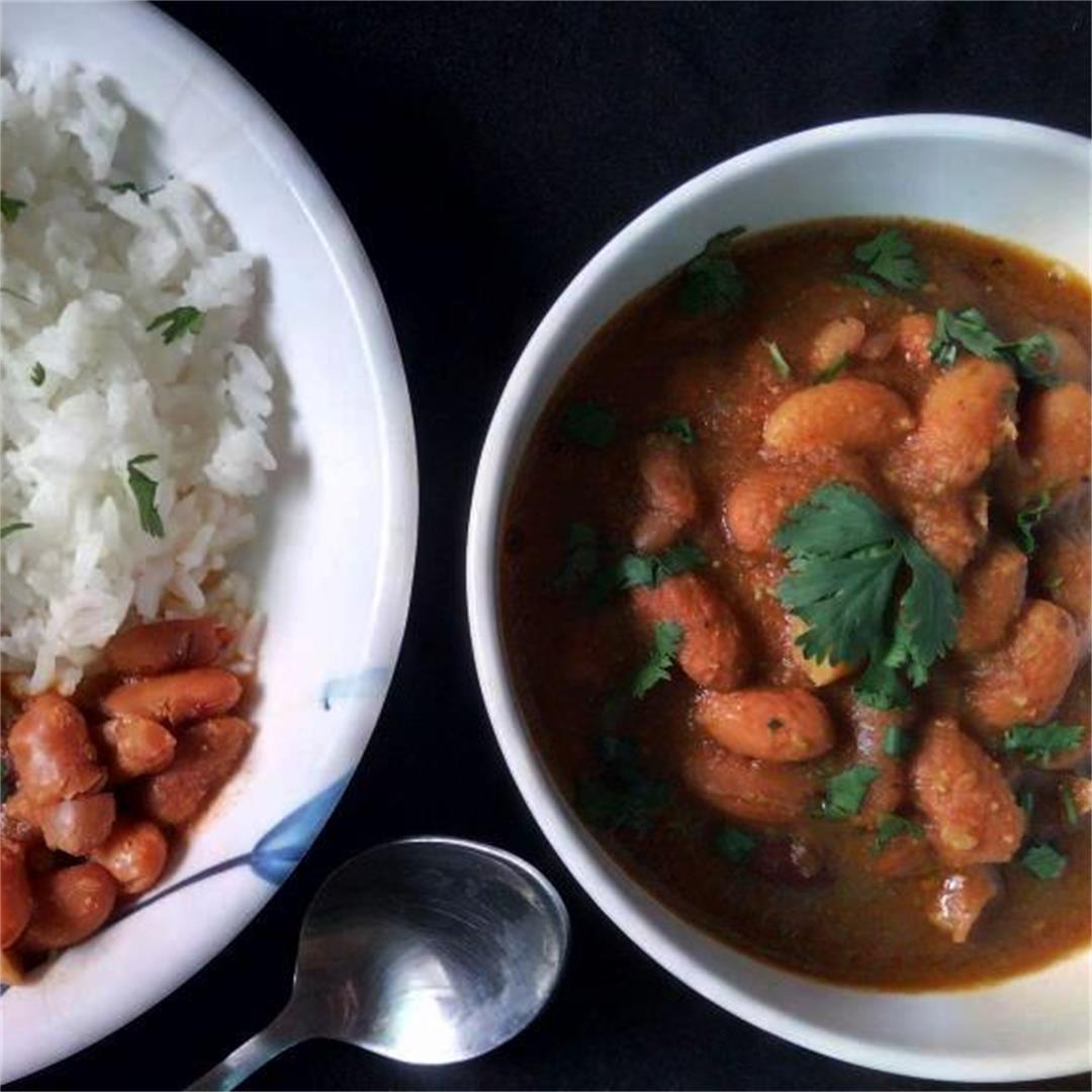 Kidney Beans Curry in Authentic Indian Style