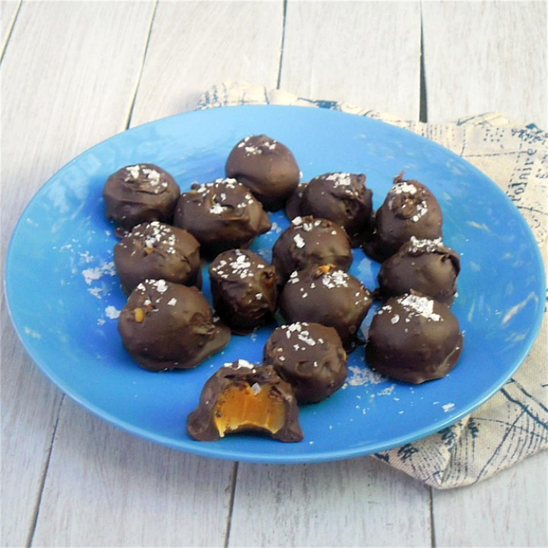 Salted Caramel Truffles (5 Ingredients)