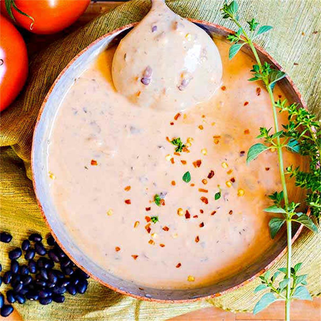 Creamy Creole Black Bean Soup