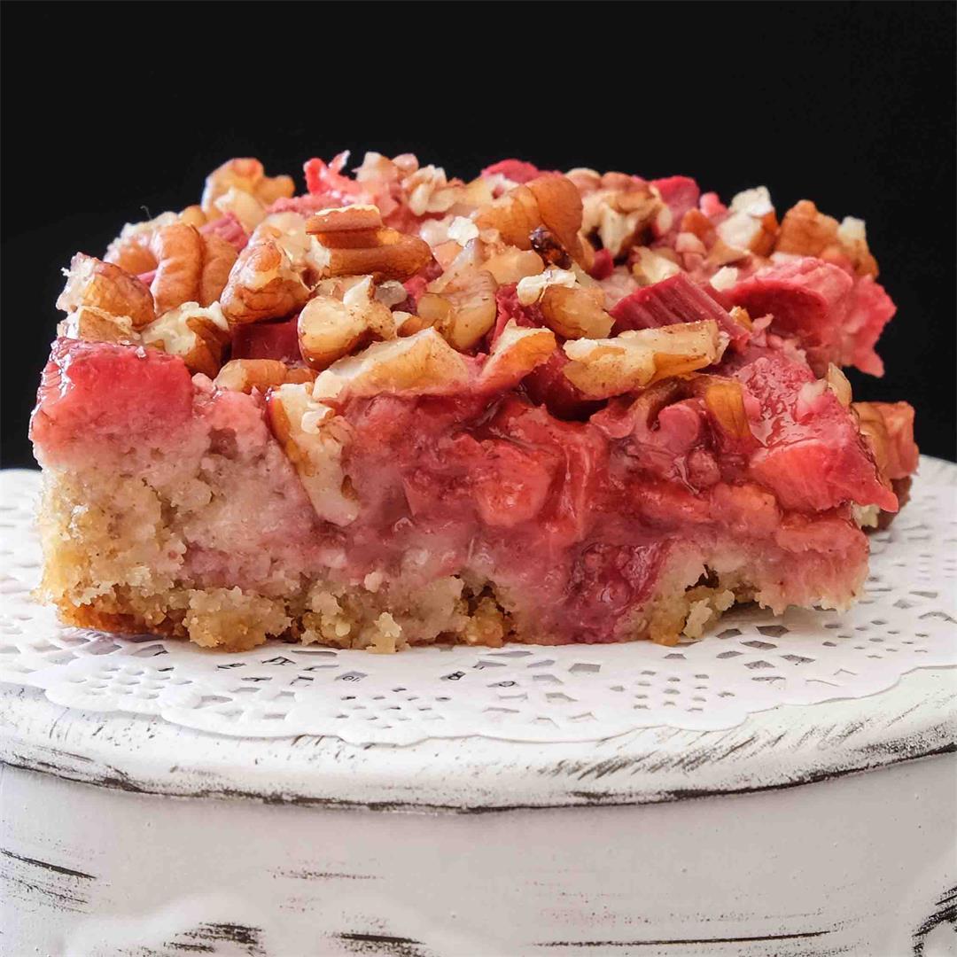 Gluten-Free Rhubarb Strawberry Squares