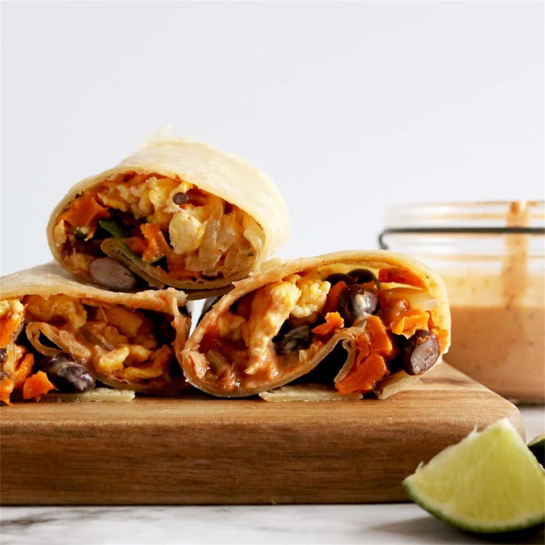 Healthy Chipotle Breakfast Burrito