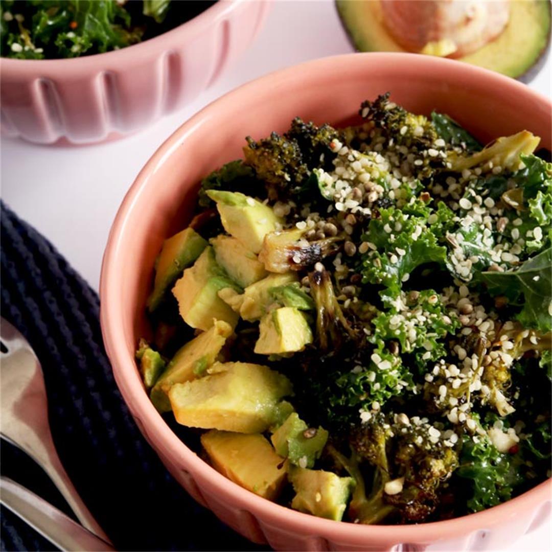 Creamy Broccoli Salad With Lemon & Capers