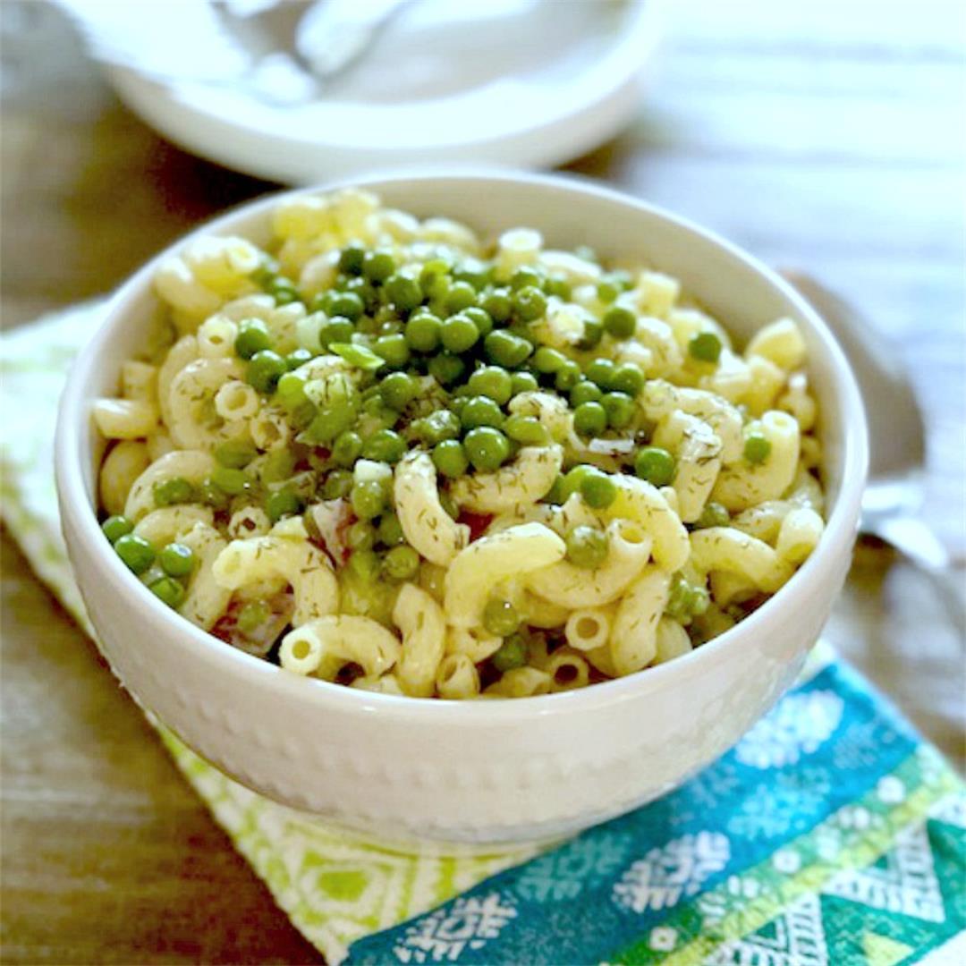Classic Macaroni Green Pea Salad