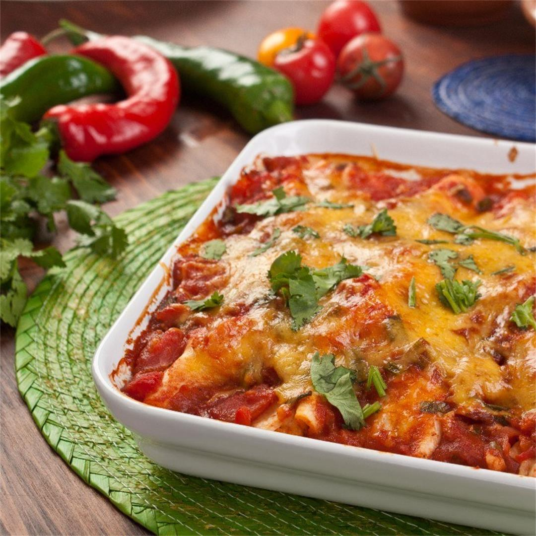 Syn Free Slimming World Chicken Enchiladas