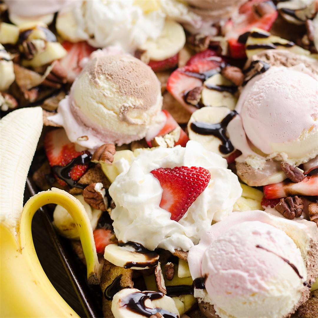Ultimate Banana Split Dessert Nachos