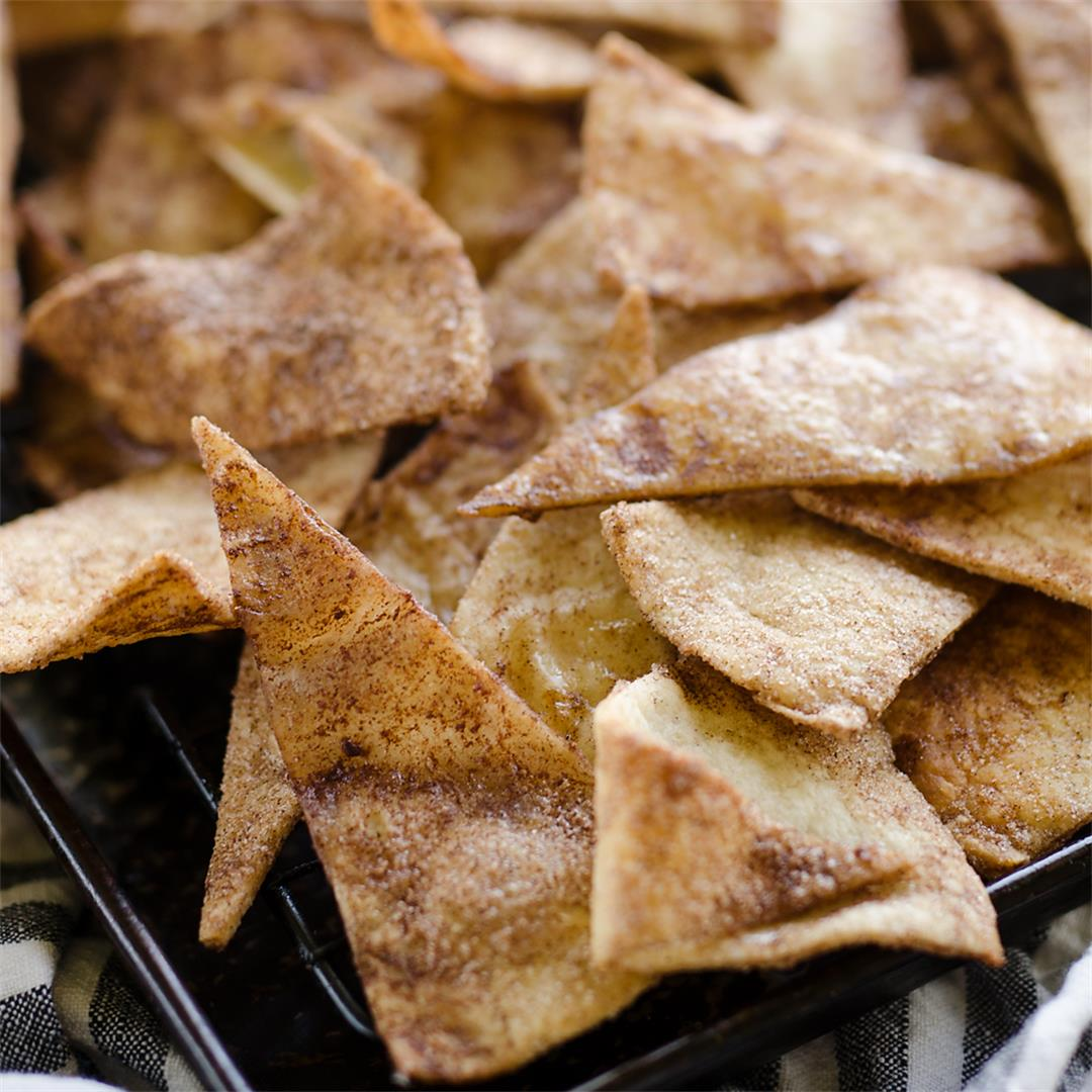 Baked Cinnamon Sugar Tortilla Chips