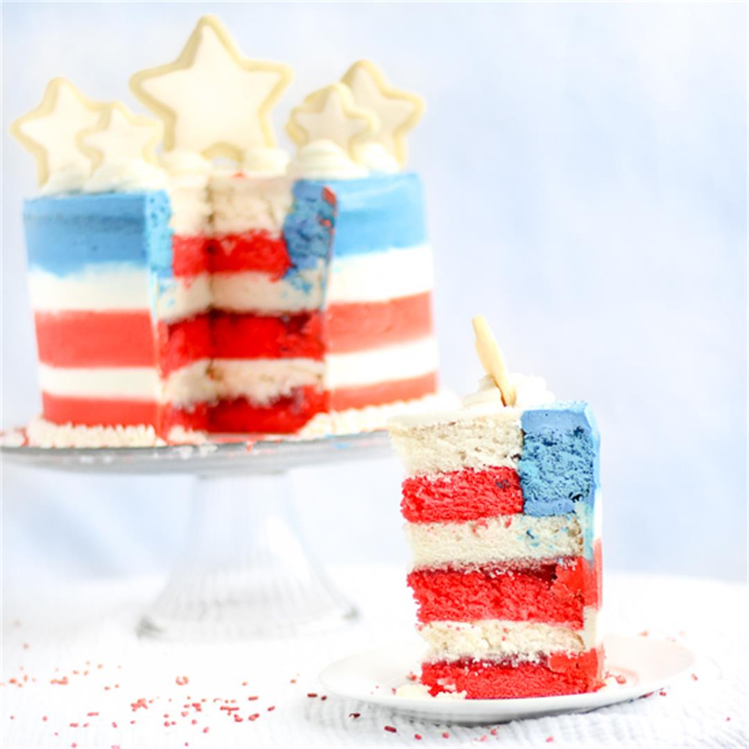 Flag Cake: 4th of July