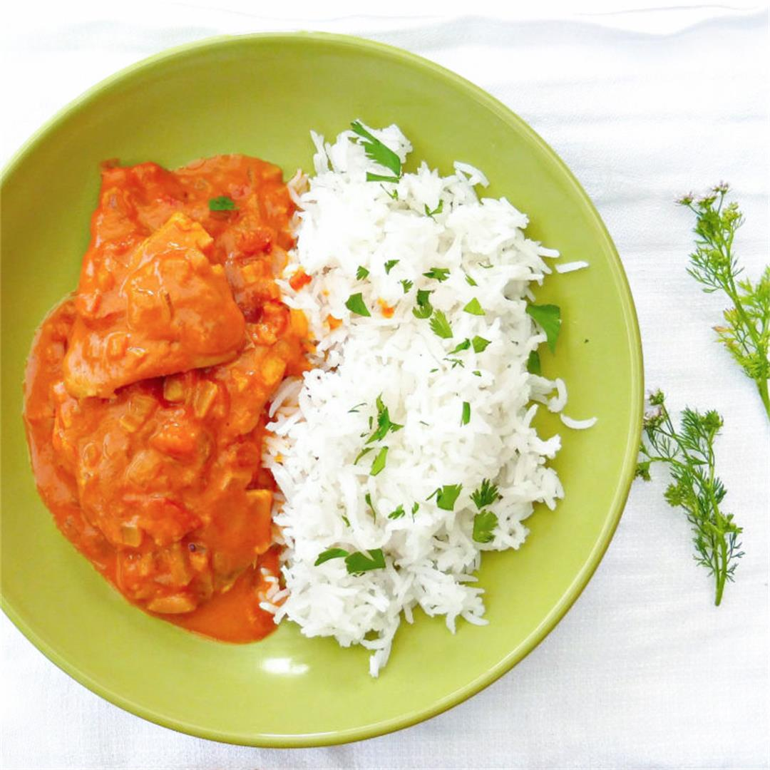 30 minute simple meal: Thai Spiced Creamy Fish Curry
