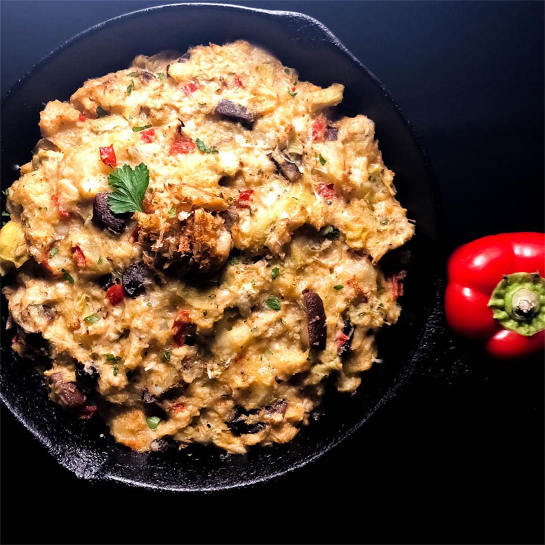 Gluten Free Cajun Crab, Artichoke and Potato Casserole