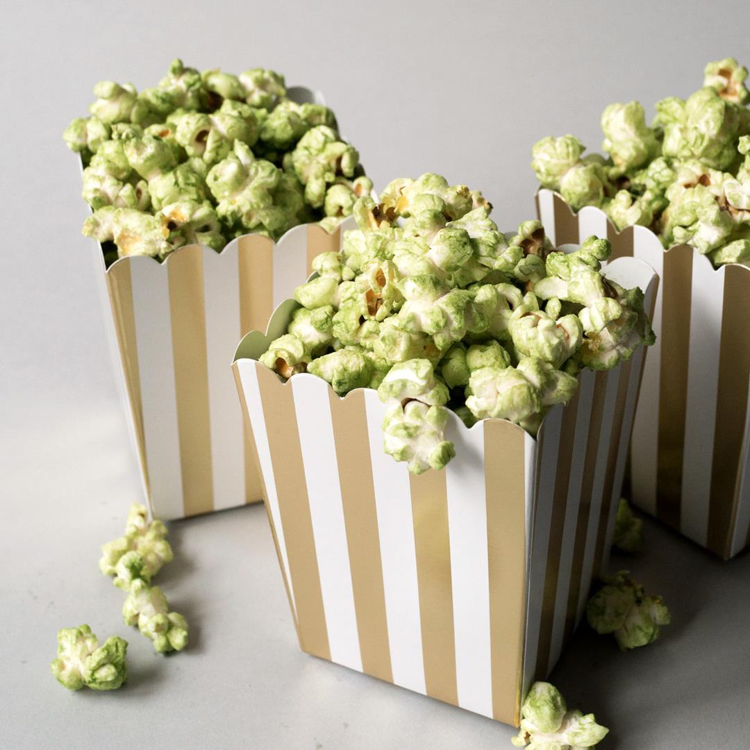 Matcha (Green Tea) Stovetop Popcorn