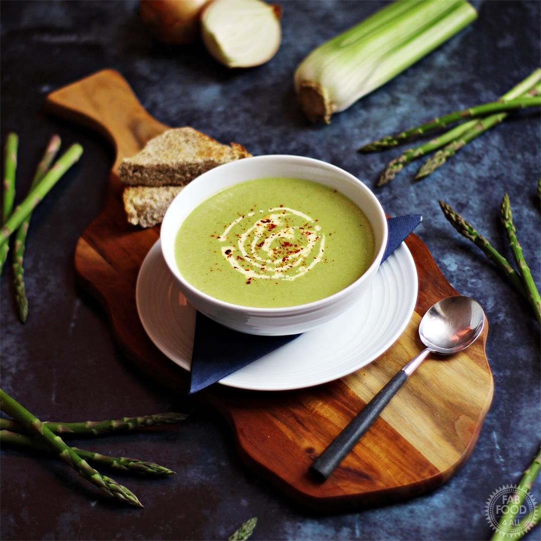 Cream of Asparagus & Celery Soup so quick & delicious!