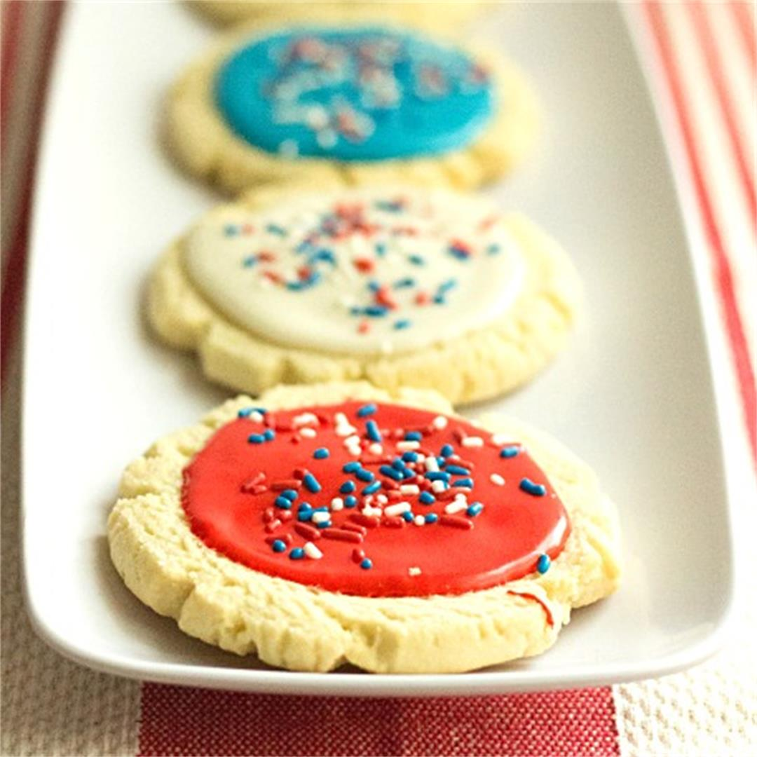 Red, White and Blue Swig Cookies | Queenbeebaker.net