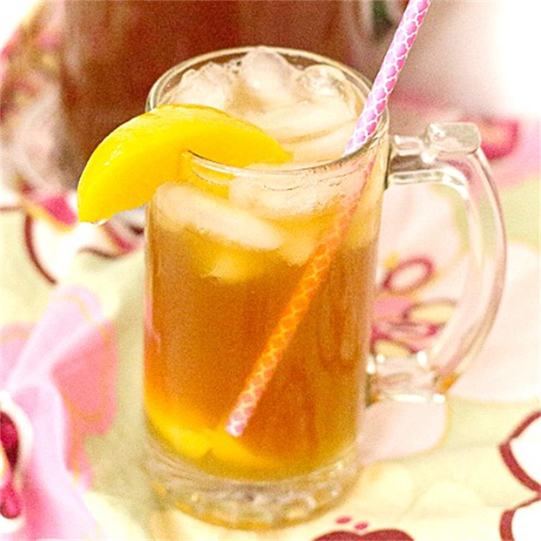 Instant Pot Peach Sweet Tea | Queenbeebaker.net