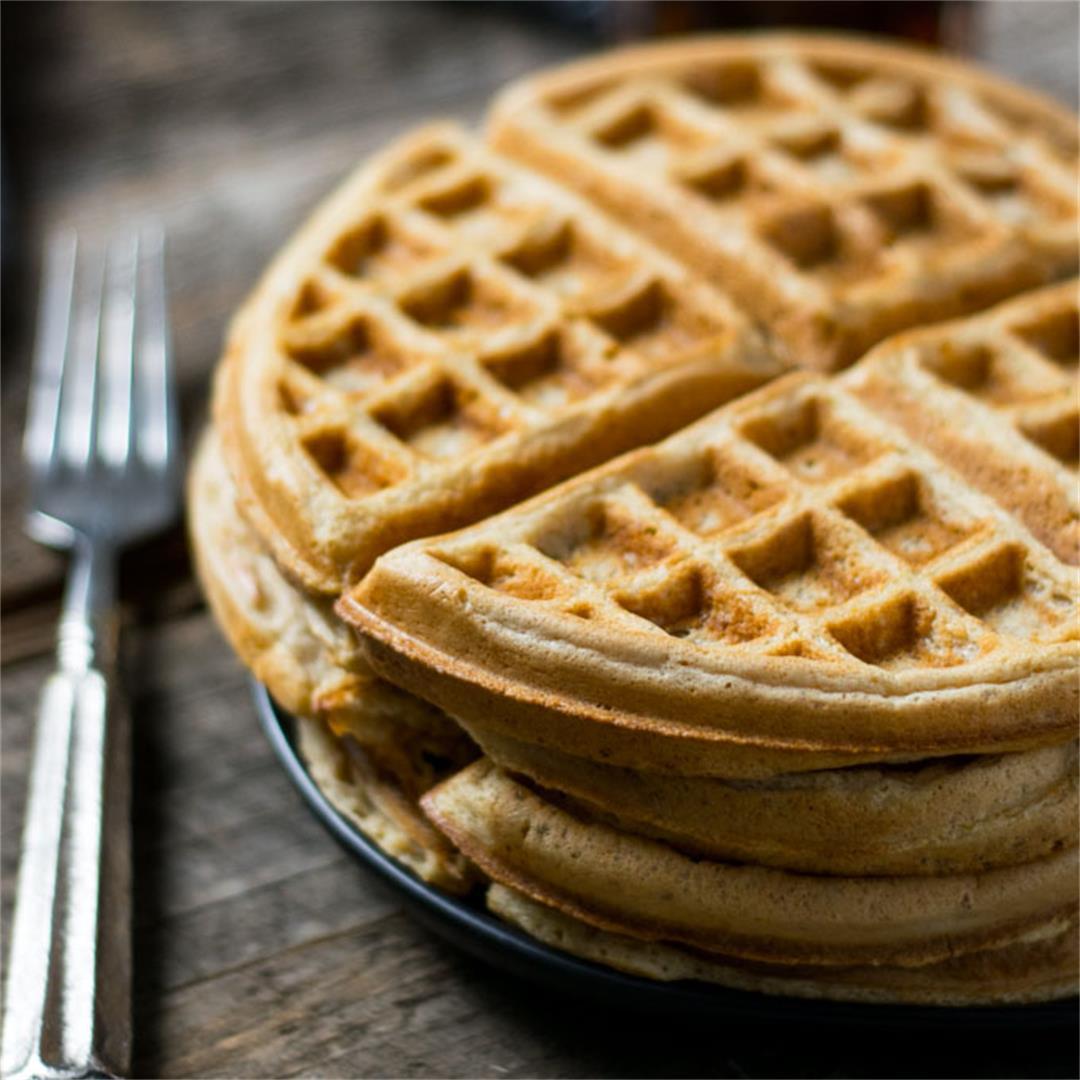 Amazing Vegan Belgian Waffles