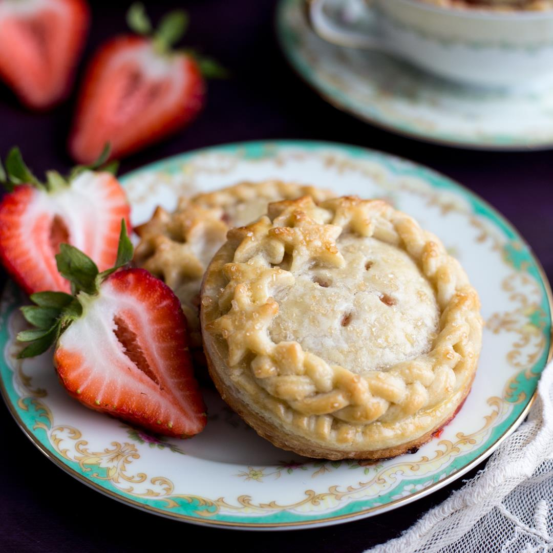A small batch decorated Strawberry Hand Pies