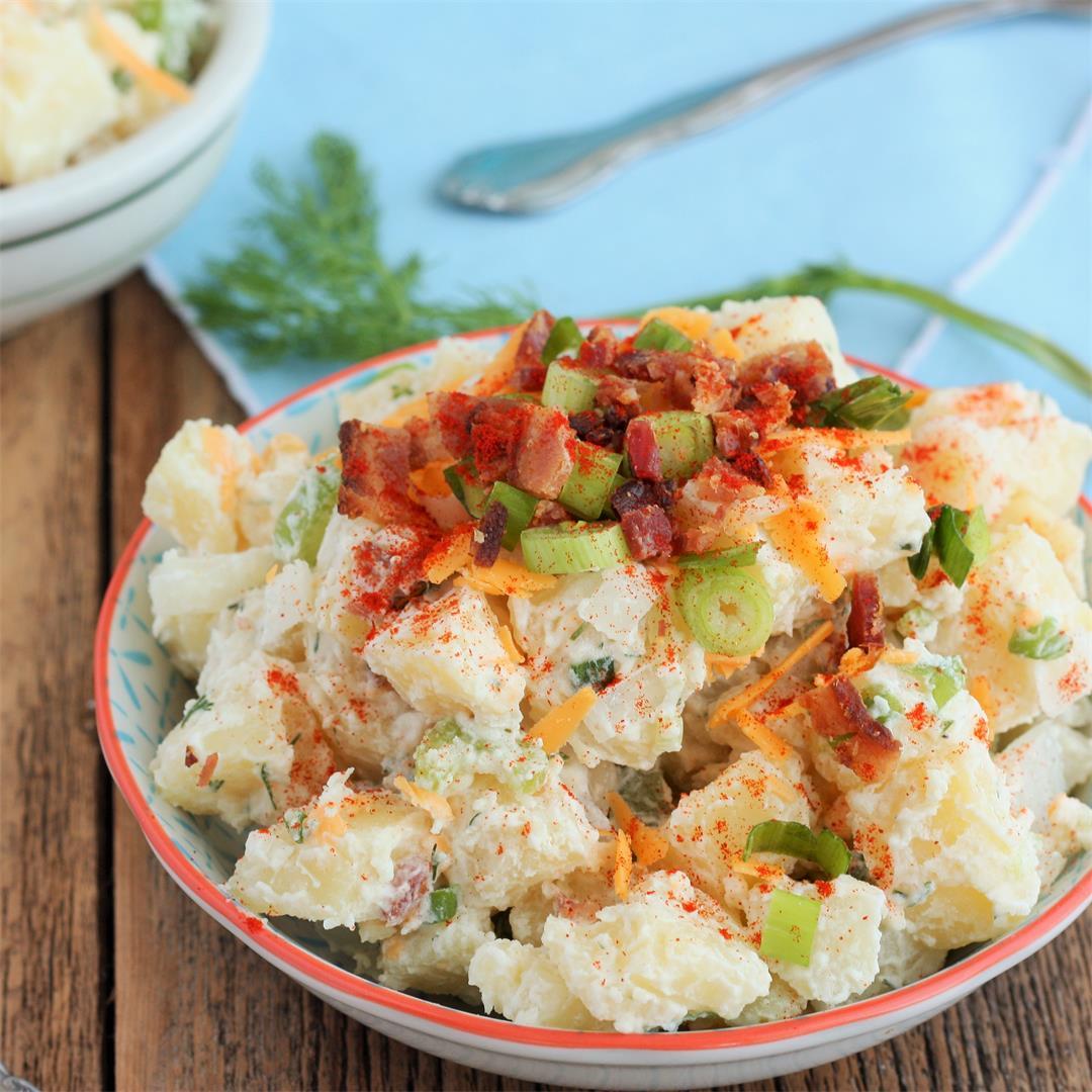 Loaded Baked Potato Salad Without Mayo