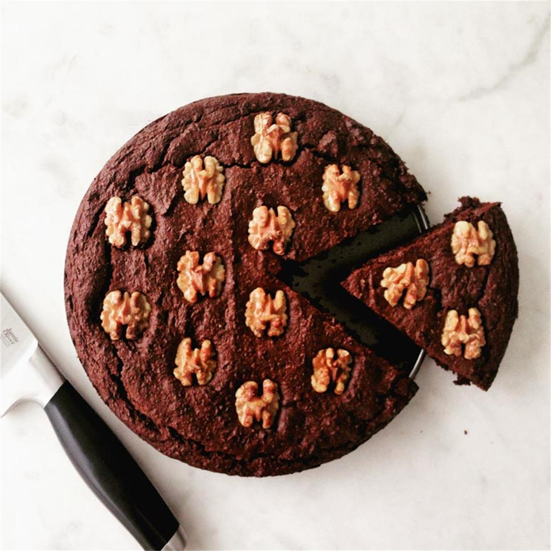 Easy Double Dark Chocolate Beet Cake