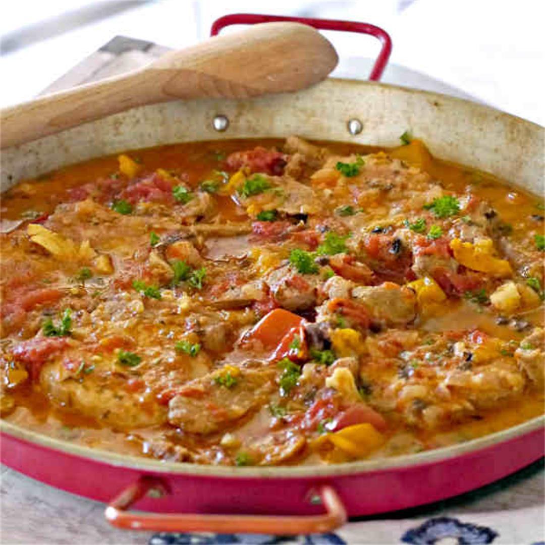 Spanish Pork and Sausage Casserole
