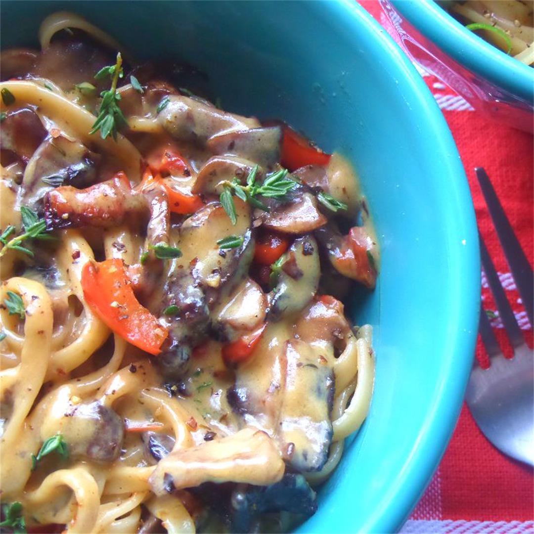20 Minute Creamy Mushroom Pasta