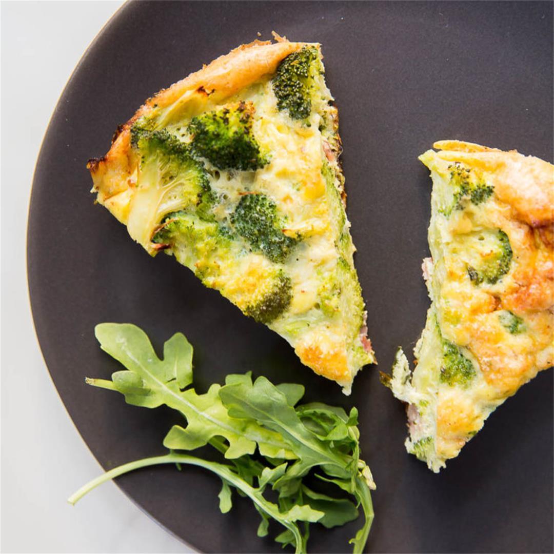 Broccoli and Swiss Cheese Quiche