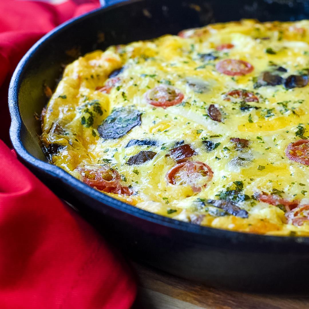 Turkey Sausage & Spinach Frittata