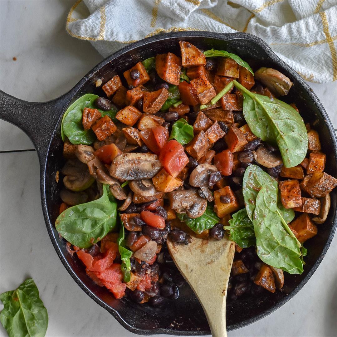 Vegan Black Bean Breakfast Hash