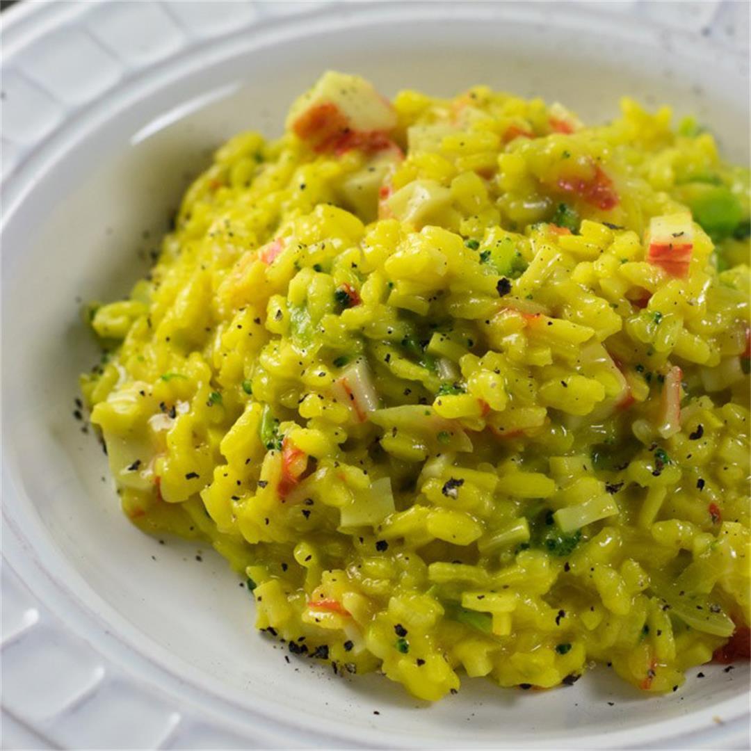 Crab and Broccoli Risotto
