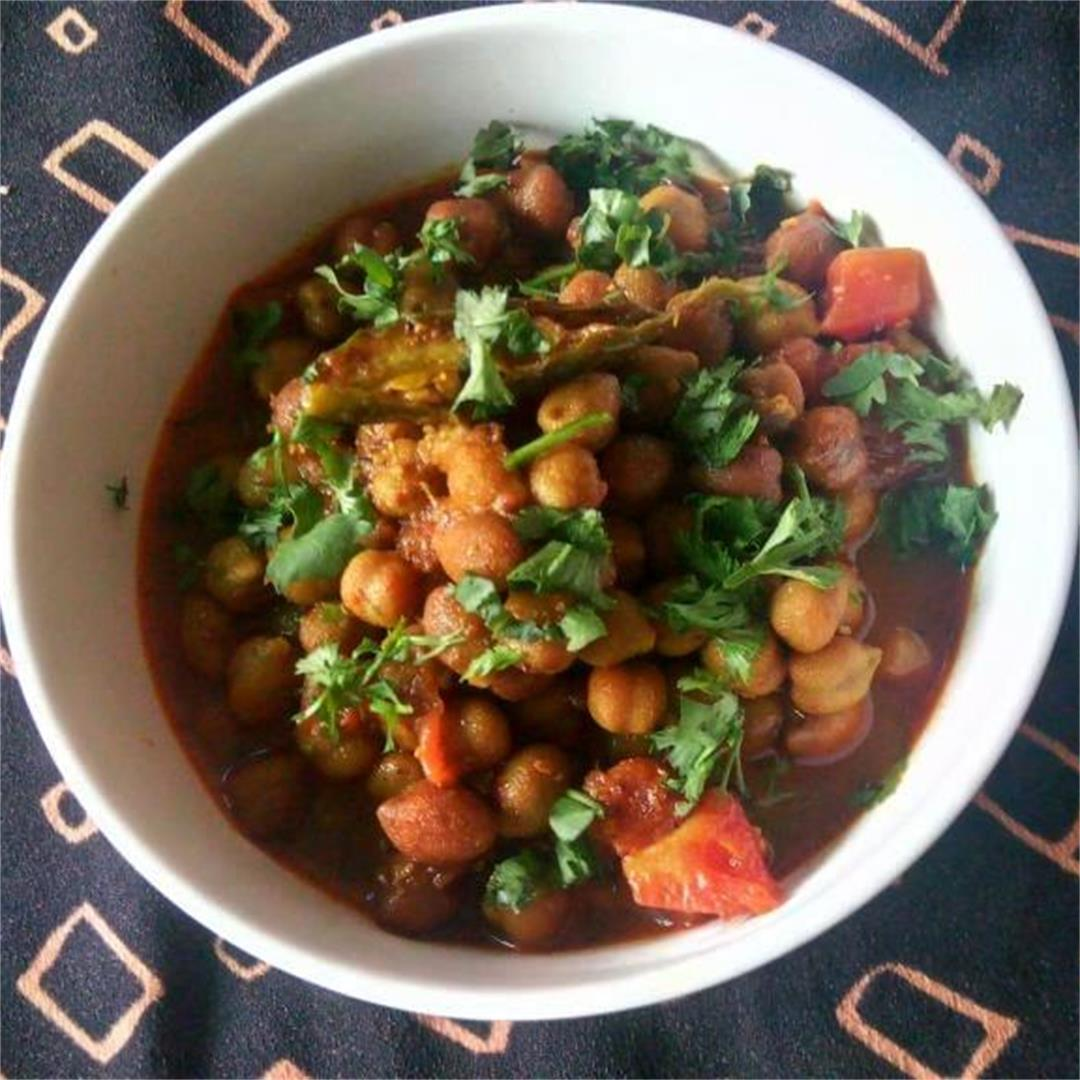 Sauteed Brown Chickpeas