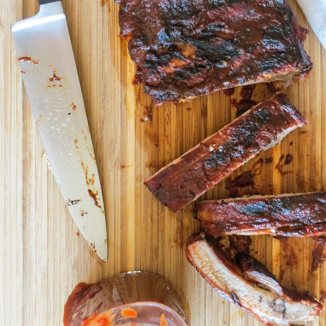 Pork Ribs with Coffee Molasses BBQ Sauce