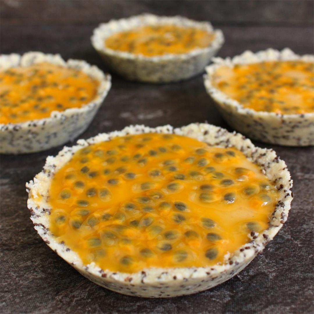 No Bake Pineapple Tartlets with Passion Fruit