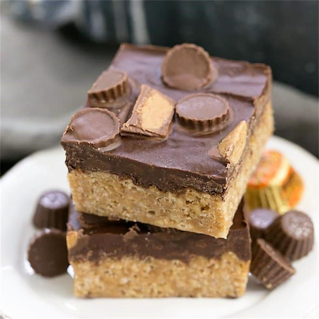 Reeses Rice Krispie Treats