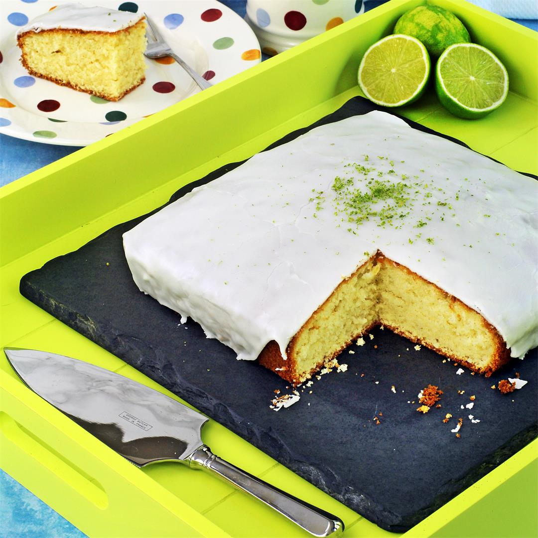 Easy Iced Lime Cake (All-in-One Method)
