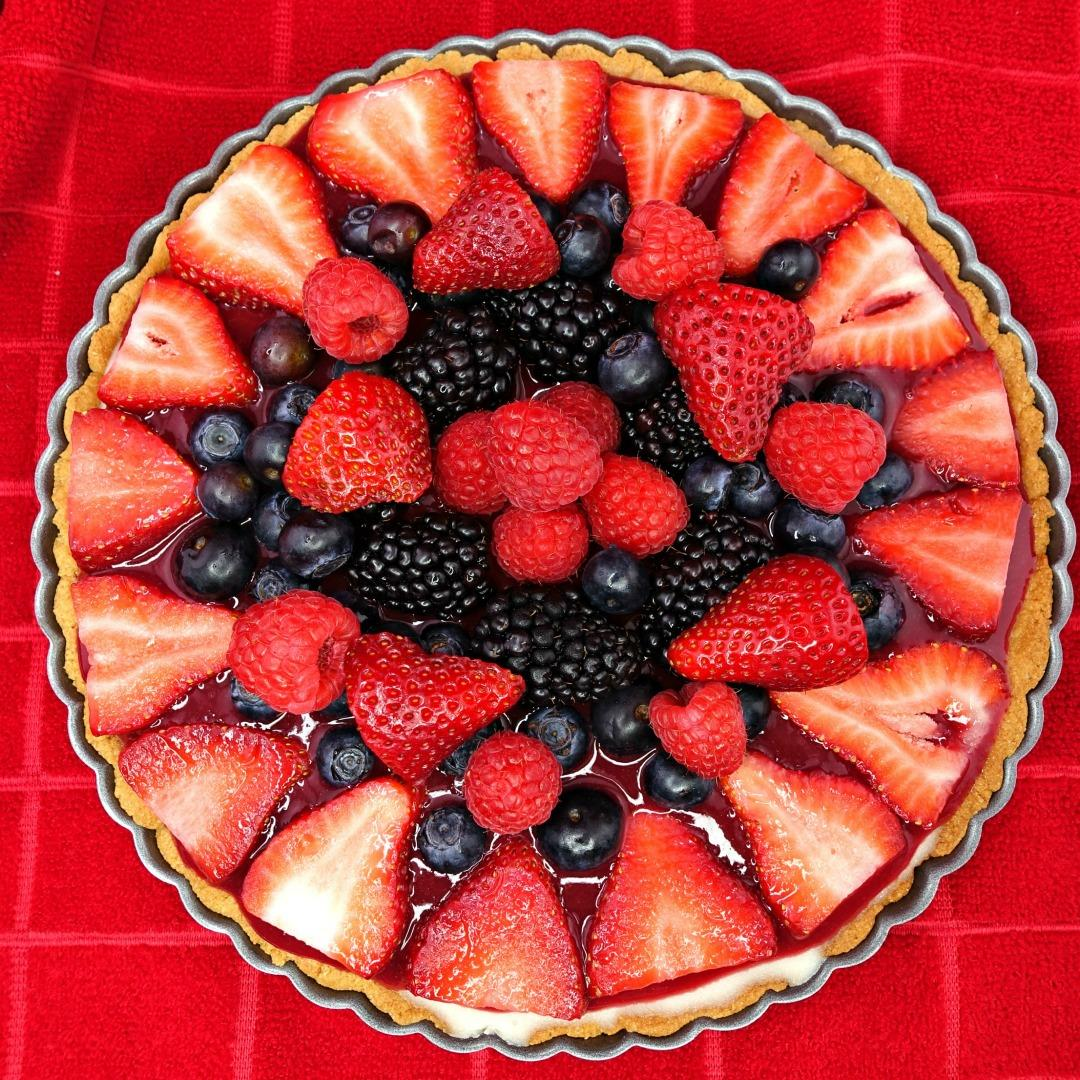 Paleo Mixed Berry Fruit Tart