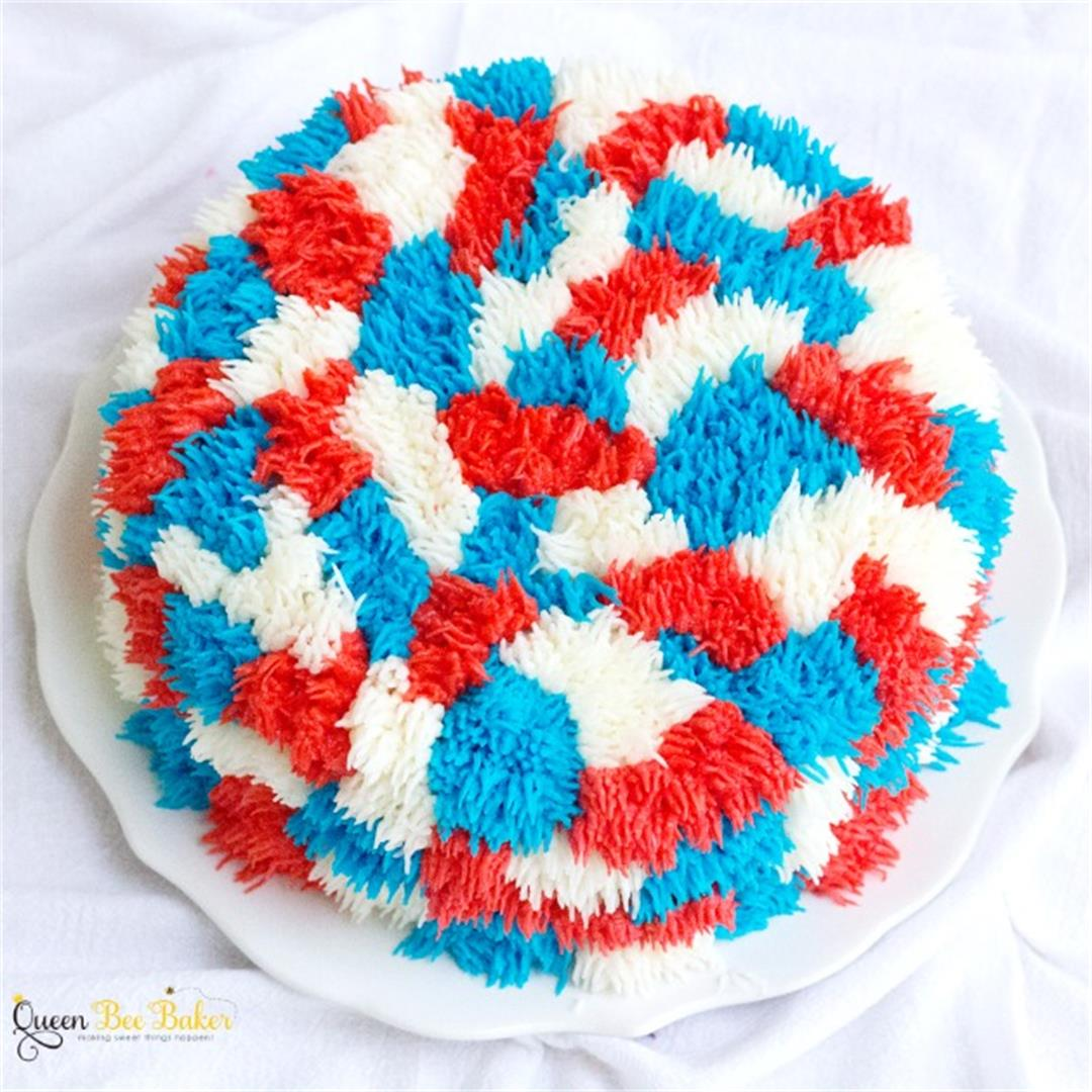 Star Spangled Shag Cake | Queenbeebaker.net