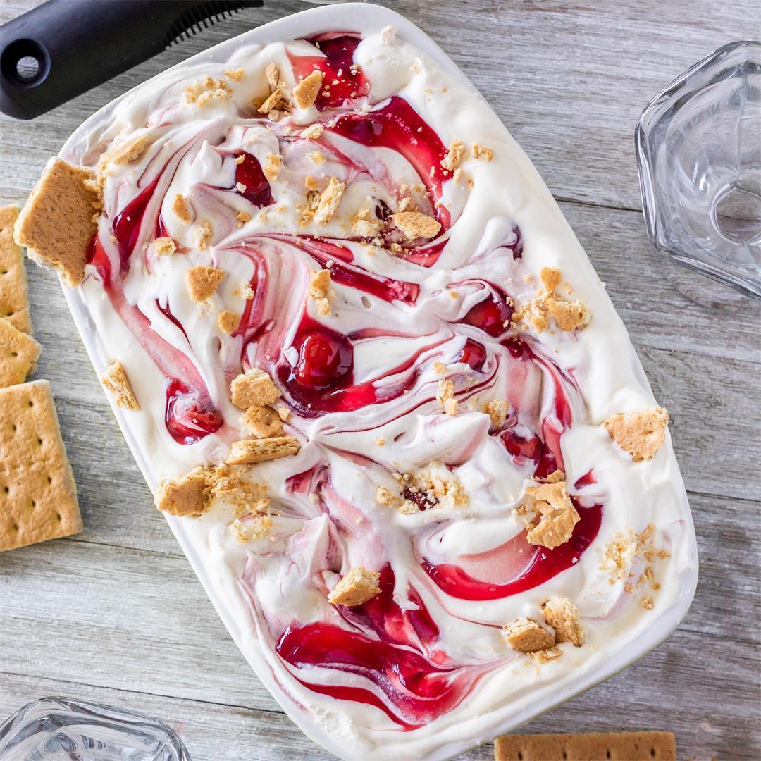 Cherry Cheesecake Ice Cream