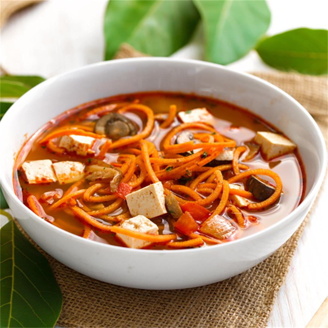 Beat the heat by with this spicy Tom Yam Soup!
