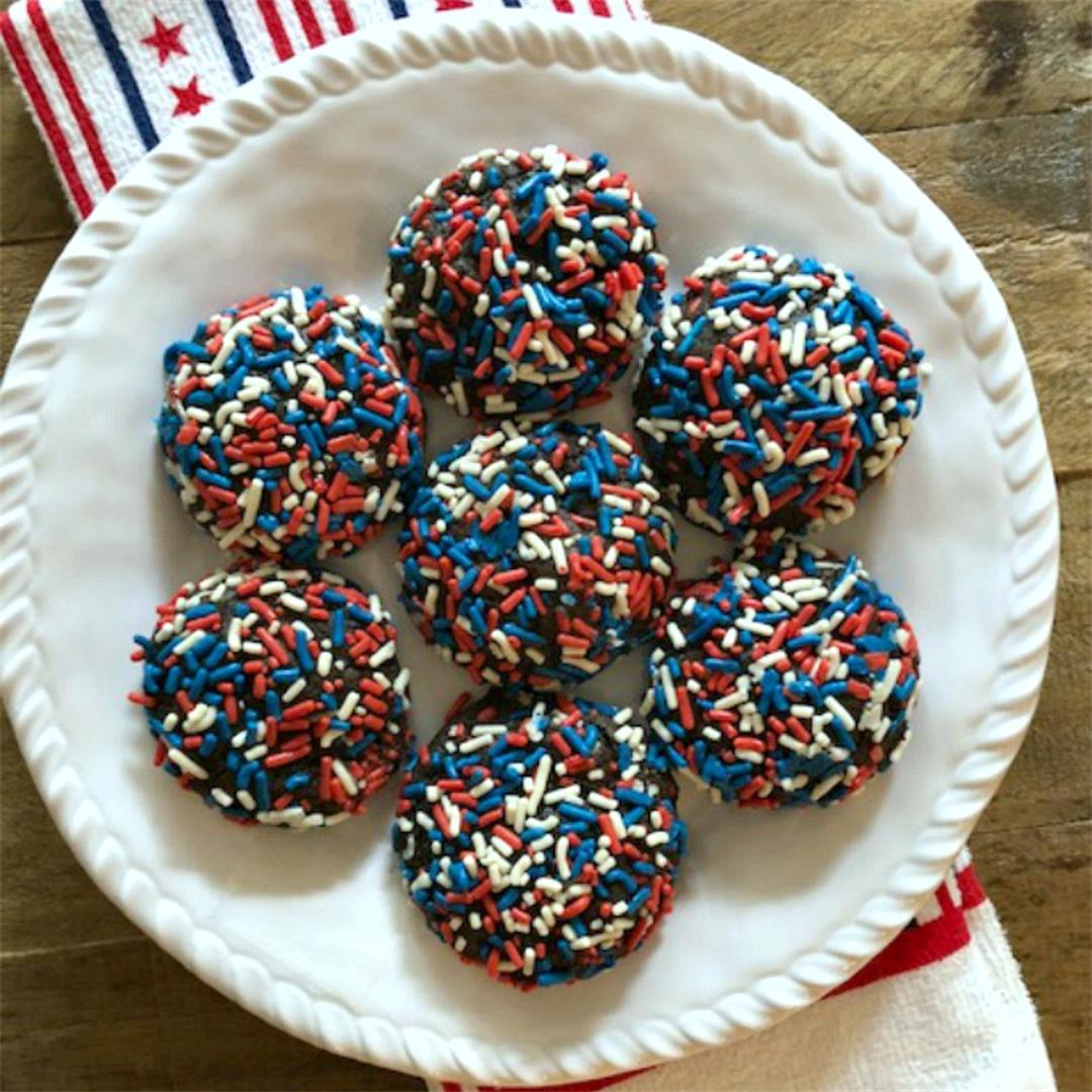 Double Chocolate Patriotic Cookies