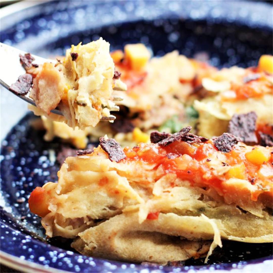 Kale Enchilada With Persimmon Salsa