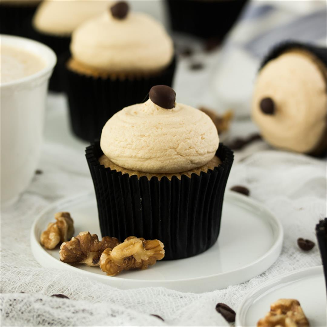 Walnut and Coffee Cupcakes with Coffee Buttercream