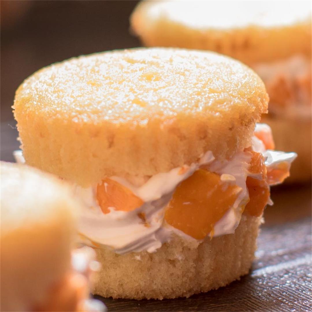 Mango Cream Cupcake Sandwiches