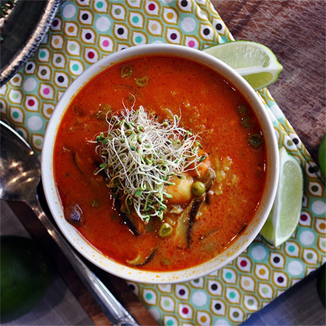 Shrimp, Rice, & Shiitake Mushroom Soup