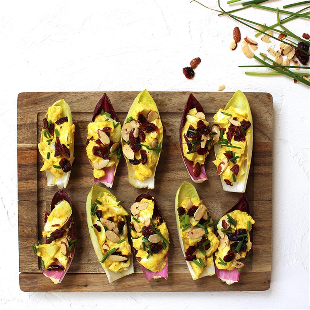 Curried Egg Salad on Endive