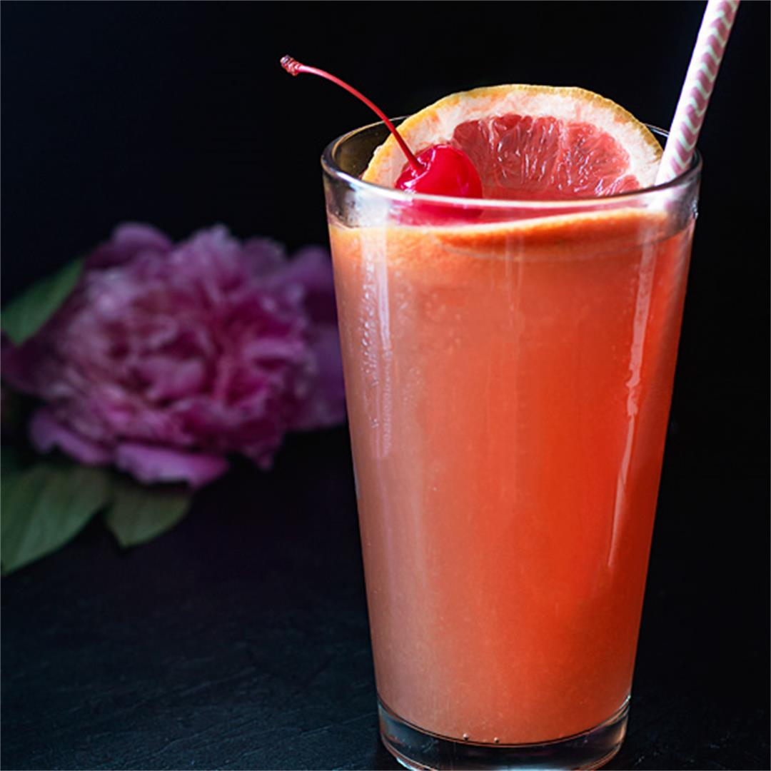 Grapefruit Tequila Sunrise Cocktail