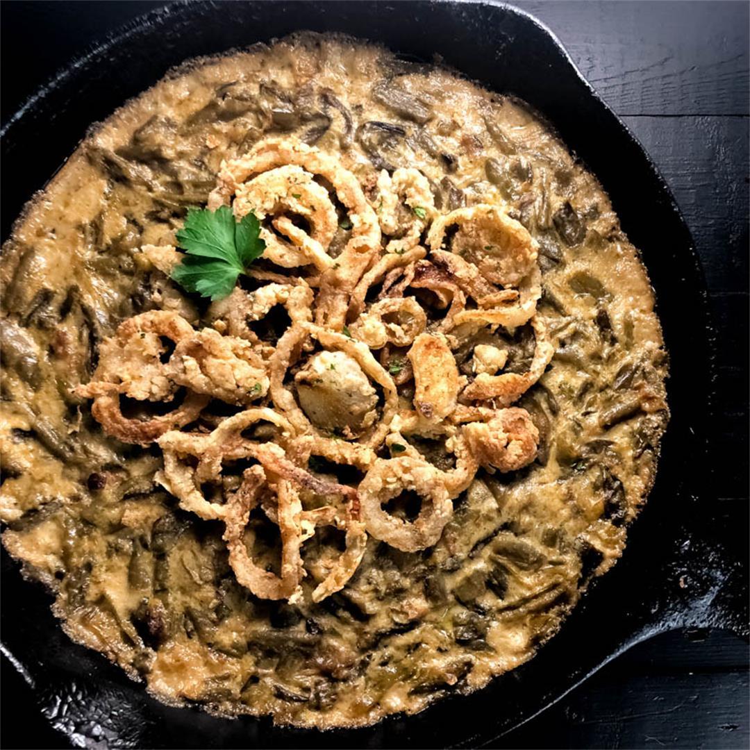 Gluten Free Cajun Smothered Green Bean Casserole