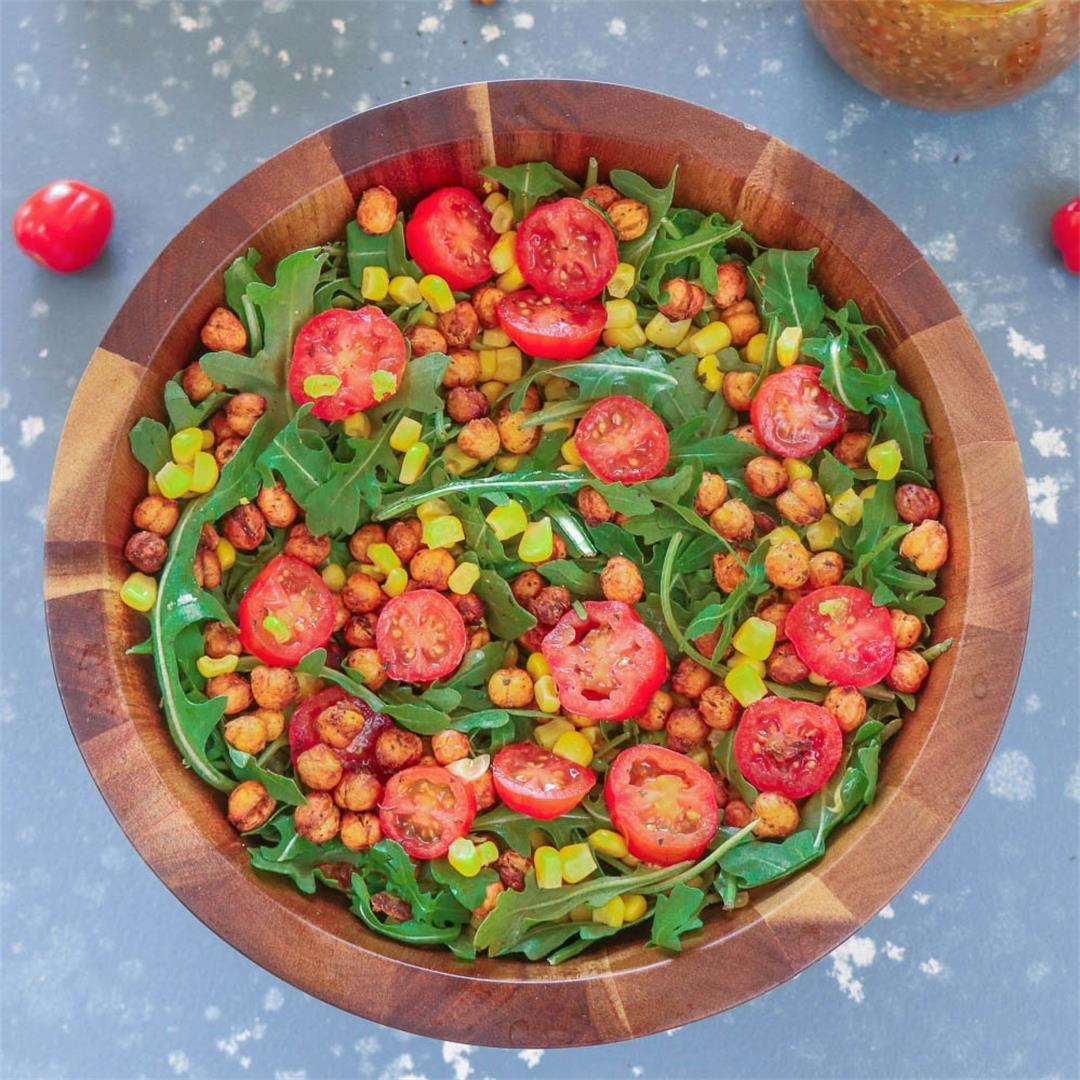 Roasted Chickpea And Arugula Salad