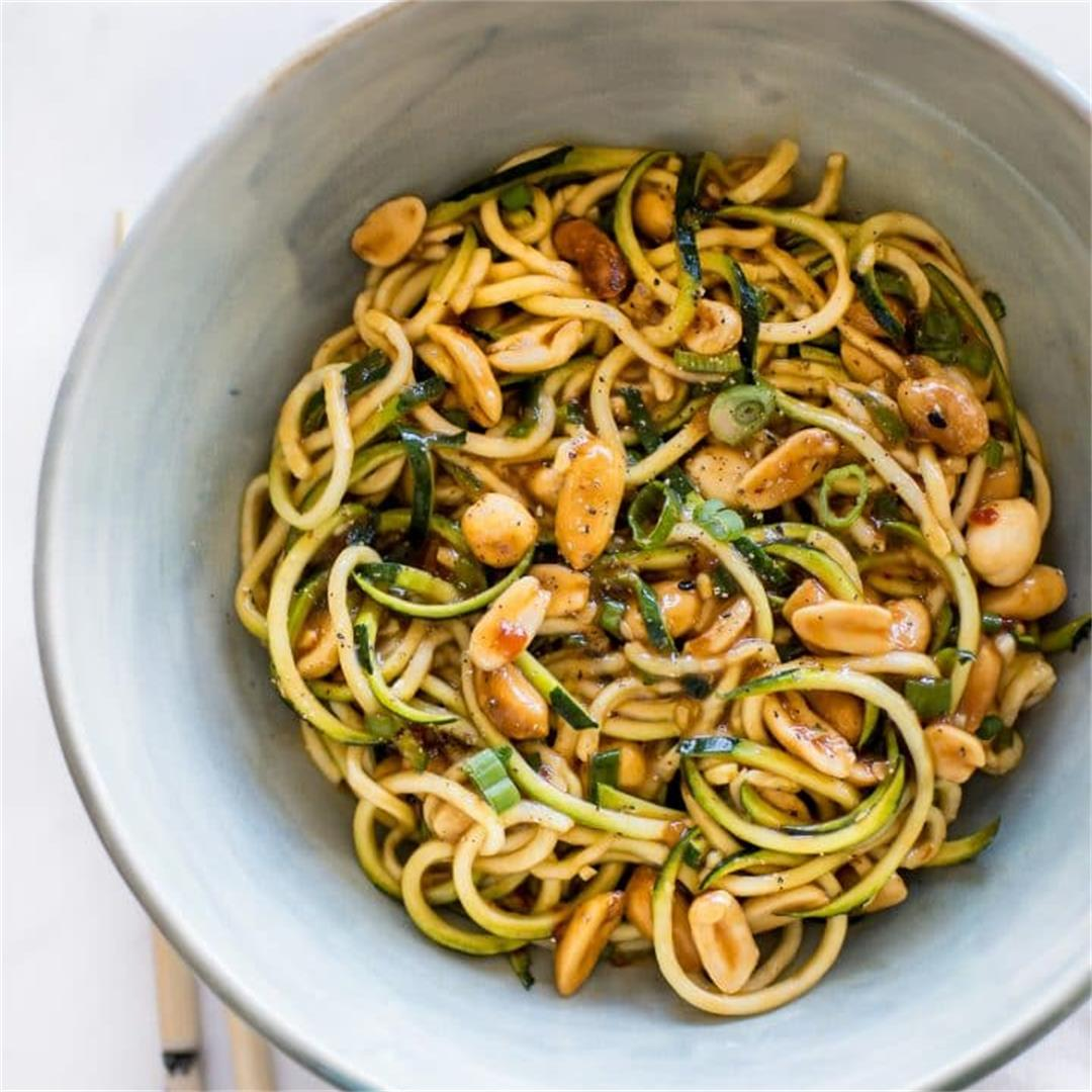 15 Minute Kung Pao Zoodles