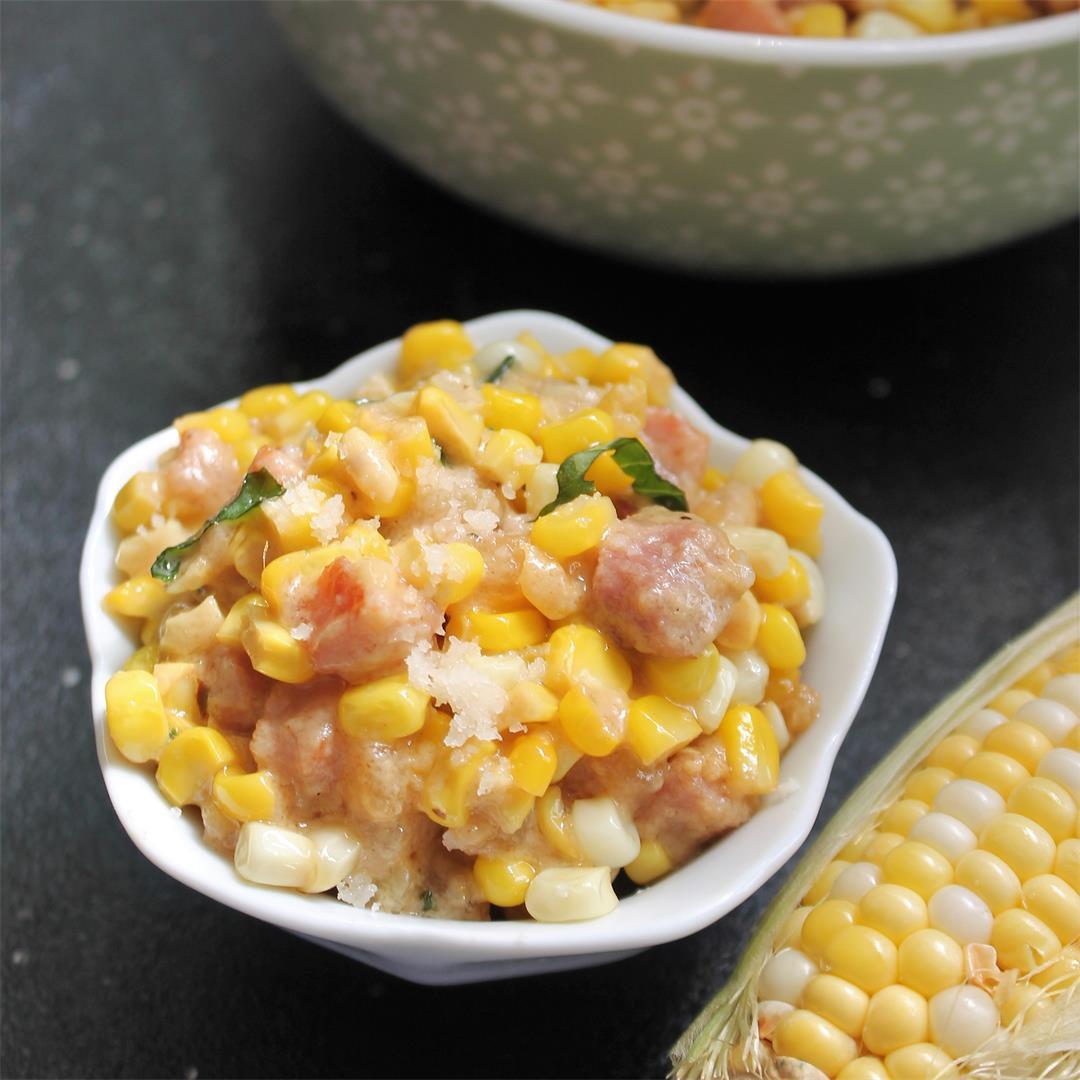 Creamy Corn with Pancetta